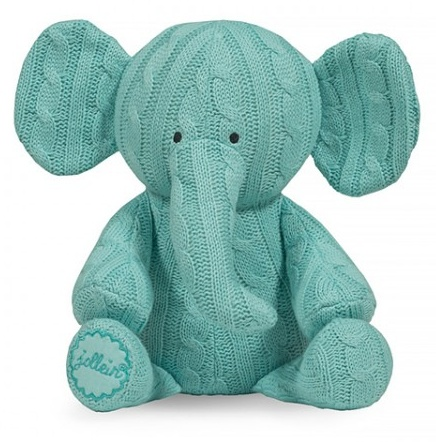 Jollein Cable knit hug Elephant Jade green