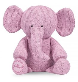 Jollein knuffel Cable Elephant Pink