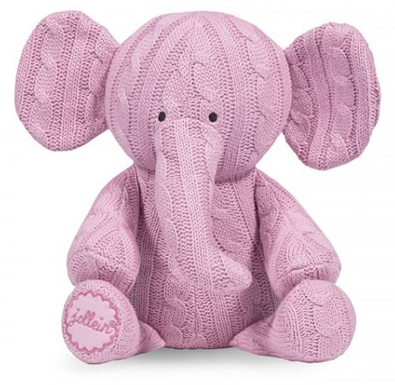 Jollein Cable knit Hug Light Pink Elephant
