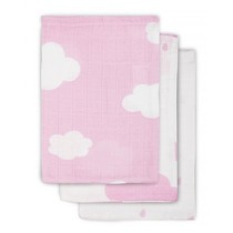 Jollein Multi large canvases Clouds Pink 3-pack