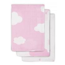 Jollein multidoeken groot Clouds Pink 3-pak