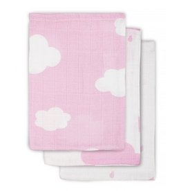 Jollein Hydrofiel washandje Clouds Pink