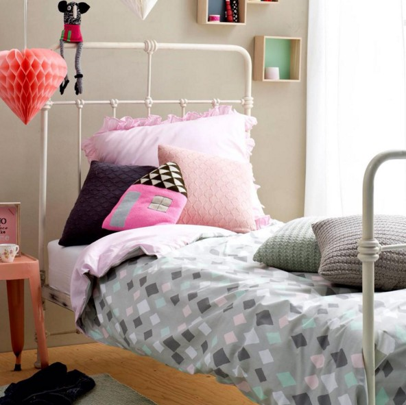 Kids Depot ledikant dekbedovertrek Wieber Pink 100 x 140 cm