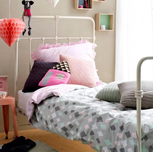 Kidsdepot ledikant dekbedovertrek Wieber Pink 100 x 140 cm