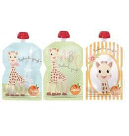 Squiz refillable squeeze pouches Sophie (set of 3)