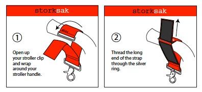 Storksak baby diaper fastening straps black