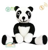 Sindibaba knuffel Panda met rammelaar 30 cm