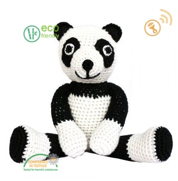 Sindibaba Panda hug with rattle 30 cm