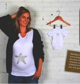 Mama Wear Set pregnancy shirt and romper with silver star