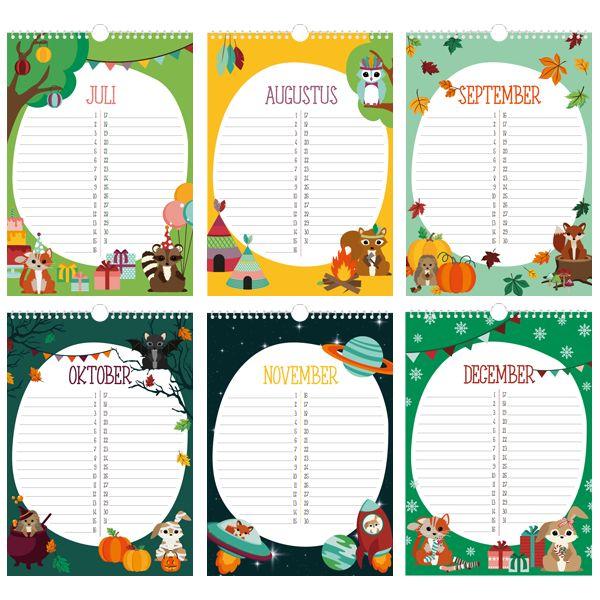 Oktoberdots verjaardagkalender Woodland