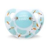 Suavinex fopspeen Anatomical Happy Bunny mint/wit 0-6 maanden