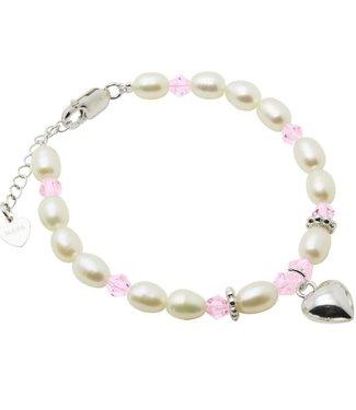 Kaya Sieraden SILVER bracelet Little Diva with heart