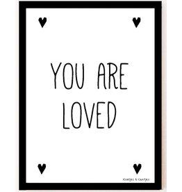 Koetjes en Kaartjes poster A4 You Are Loved