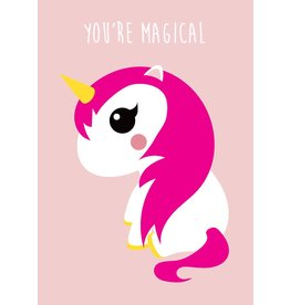 Studio Inktvis Unicorn greeting card pink