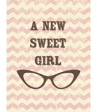 Studio Inktvis A new greeting card Sweet Girl
