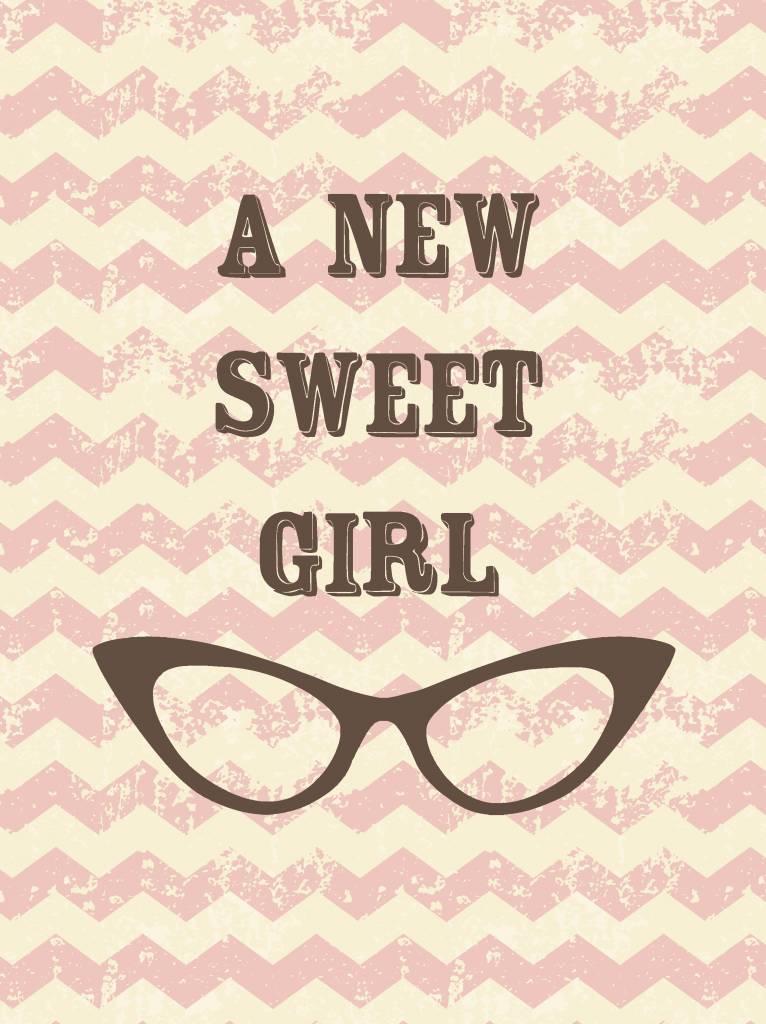 Studio Inktvis wenskaart A new Sweet Girl
