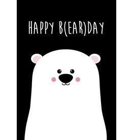 Studio Inktvis wenskaart Happy B(ear)Day