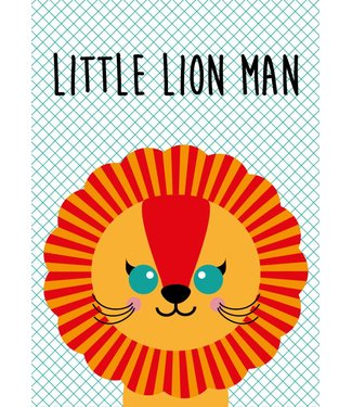 Studio Inktvis wenskaart Little Lion Man