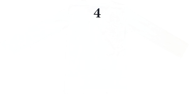 Tofshirt longsleeve effen met cijfer 4