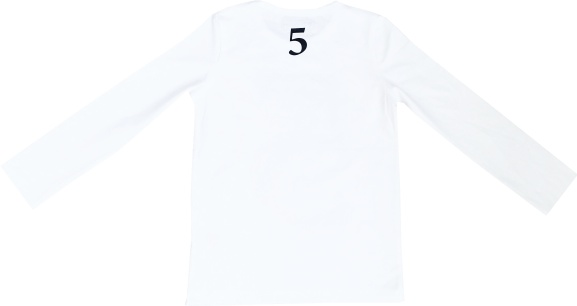 Tofshirt longsleeve plain with number 5