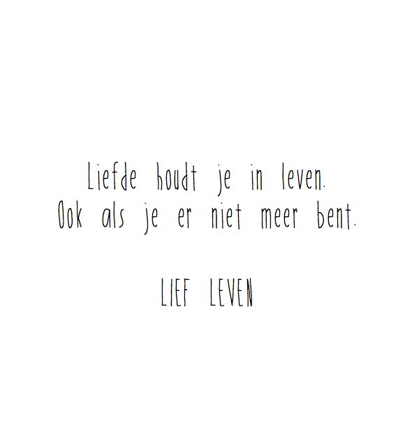 Lief Leven Greeting Love keeps you alive (free shipping)