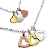 Kaya Sieraden Greeting Card Mother & Daughter with GOLD hearts - free shipping NL