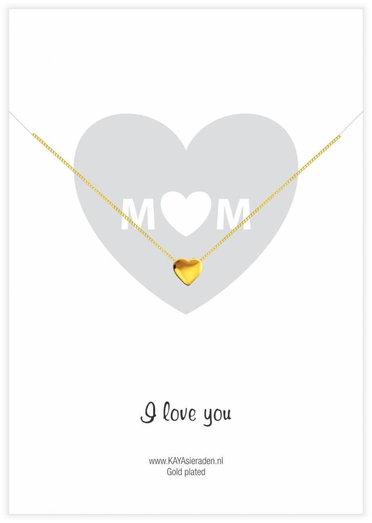 Kaya Sieraden wenskaart Mom, I love you