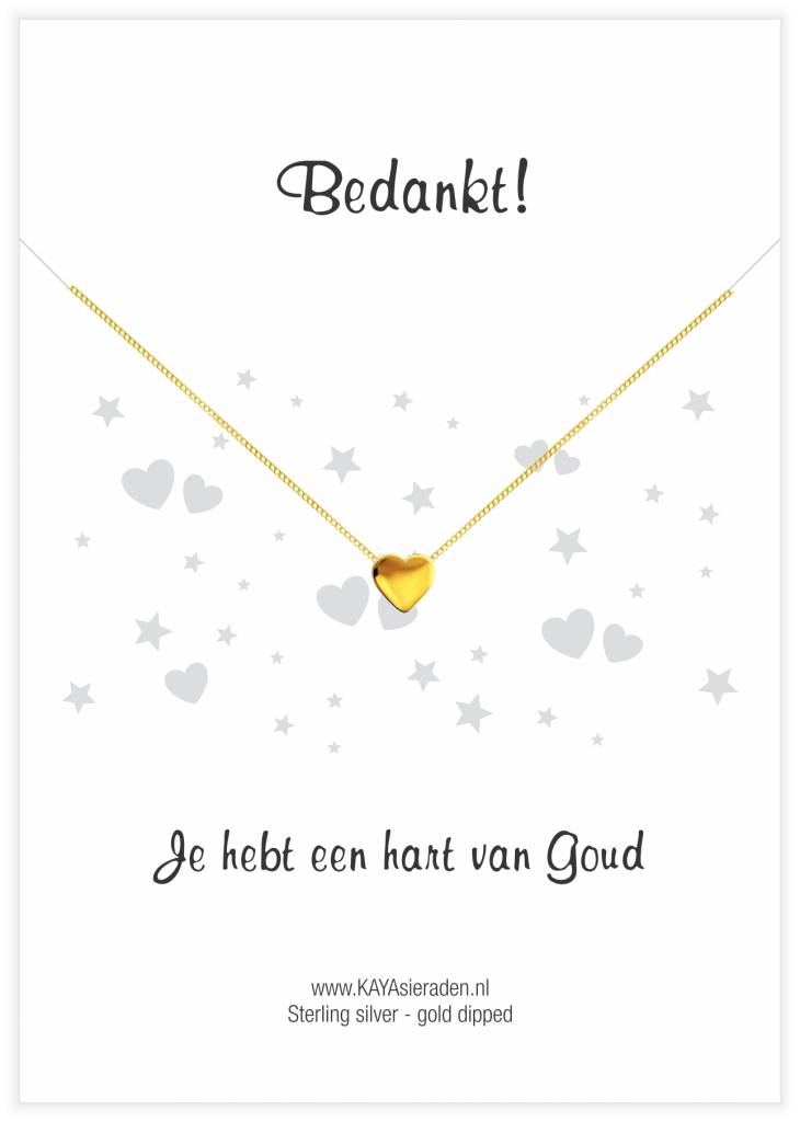 Kaya Sieraden greeting card Thank you, you have a heart of gold