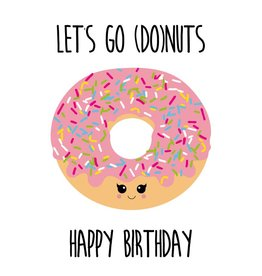 Studio Inktvis wenskaart let's go Donuts