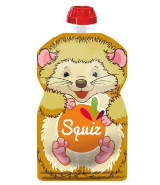 Squiz refillable squeeze pouch Hedgehog