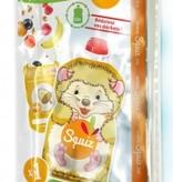 Squiz refillable squeeze bag Hedgehog