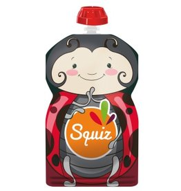 Squiz refillable squeeze bag Ladybug