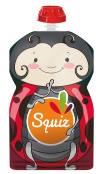 Squiz refillable squeeze bag Ladybug