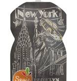 Squiz refillable squeeze pouches City London and New York set of 2
