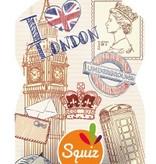 Squiz hervulbare knijpzakjes City  Londen en New York set van 2 stuks