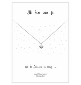 Kaya Sieraden postcard I Love Yours SILVER heart