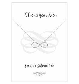 Kaya Sieraden Wenskaart 'Thank you Mom'