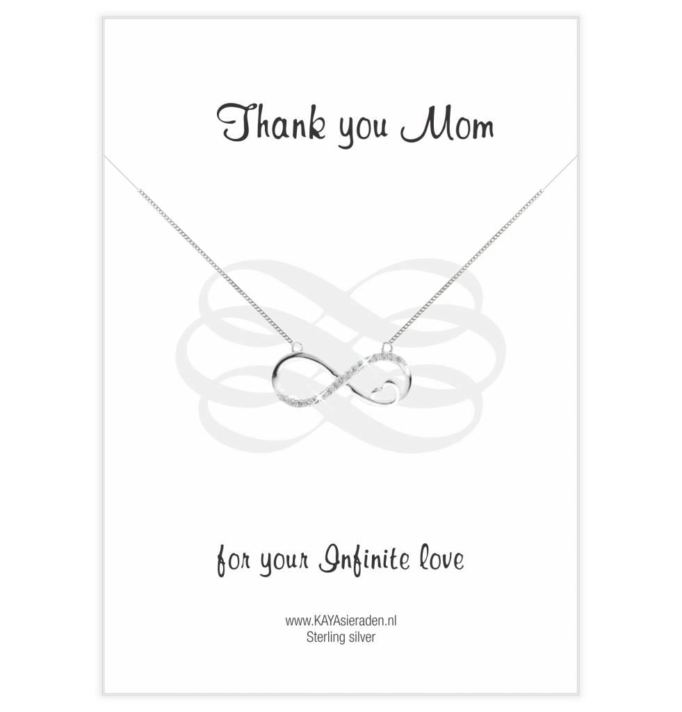 Kaya Sieraden Greeting Card 'Thank you Mom'