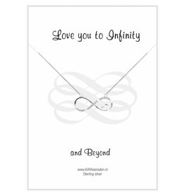 "Kaya Sieraden Postcard ""Love you to Infinity '"