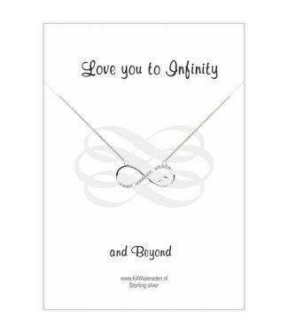 "Kaya Sieraden Postcard ""Love you to Infinity '"
