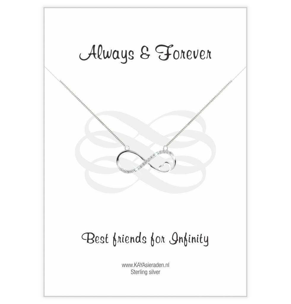Kaya Sieraden Wenskaart 'Always & Forever Friends'