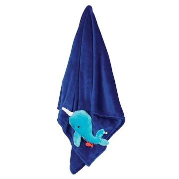 Zoocchini blanket Whale - Blue