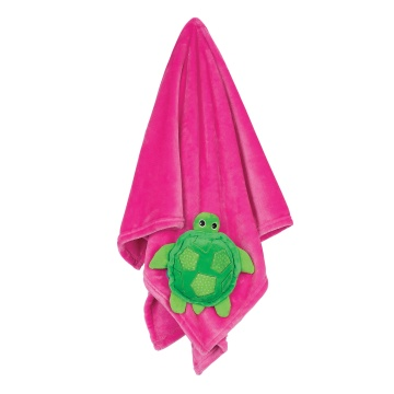 Zoocchini blanket Turtle - Pink