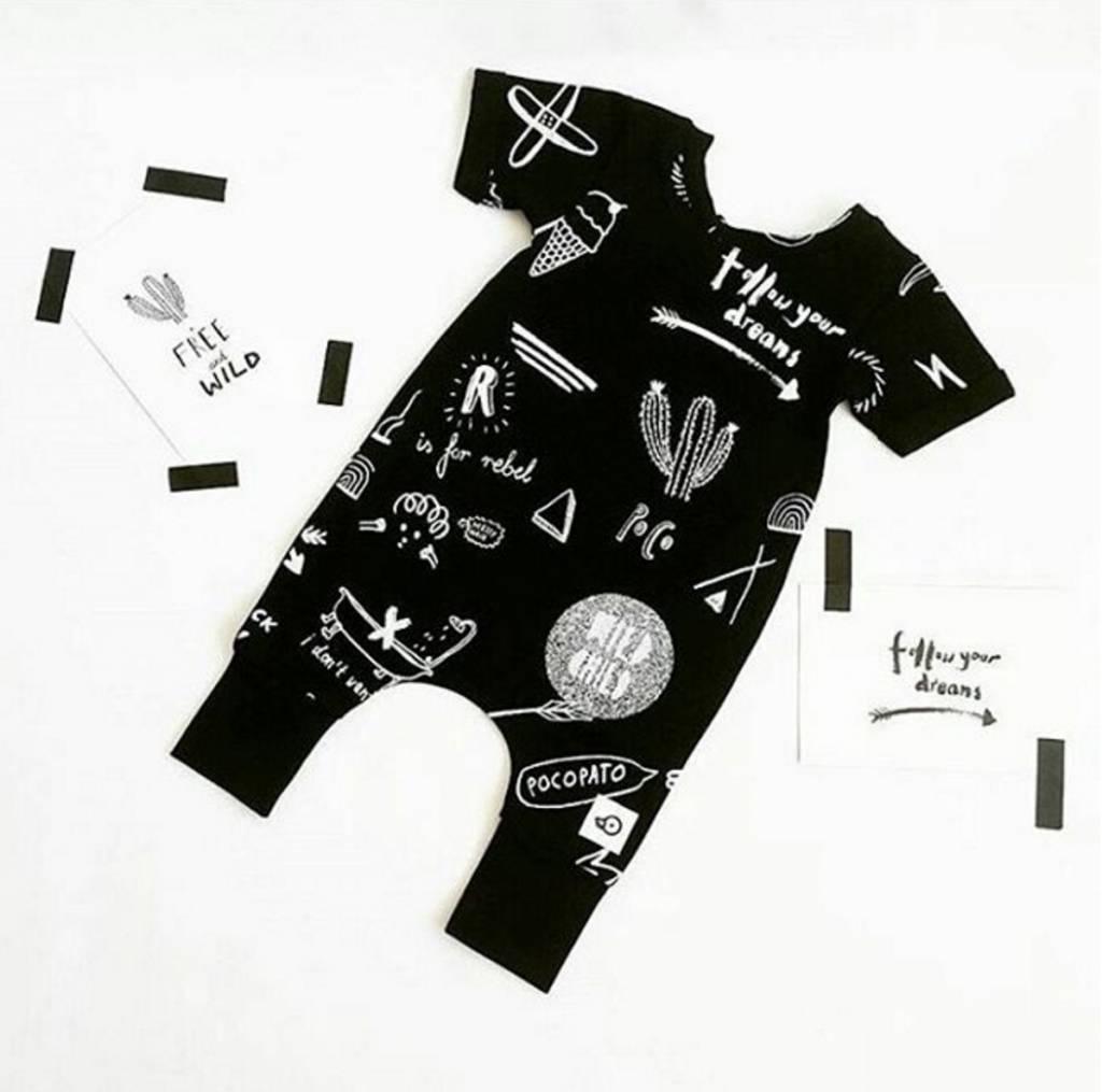 Pocopato Rebel black onesie