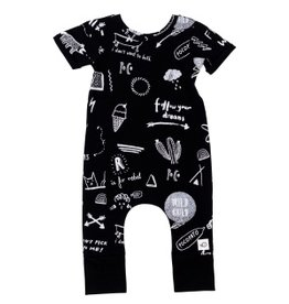 Pocopato Rebel black onesie