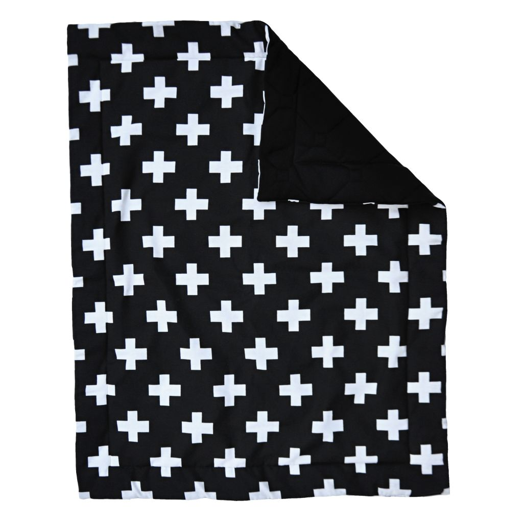 Damara Kids boxkleed zwart met witte plusjes