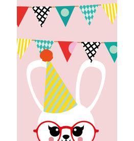 Studio Inktvis postkaart uitnodiging konijn