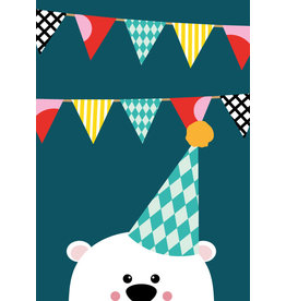 Studio Inktvis postcard invitation bear
