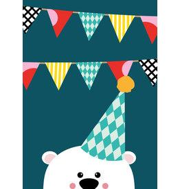 Studio Inktvis postkaart uitnodiging beer