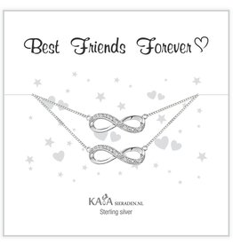 Kaya Sieraden Gift Box Silver bracelets 'Infinity' Mother daughter - Copy - Copy